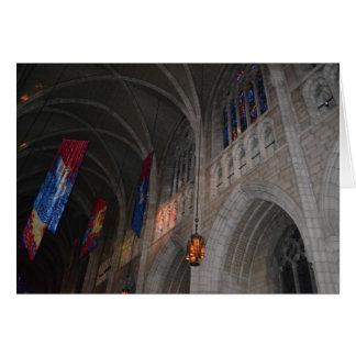 Tarjeta de nota gótica del renacimiento
