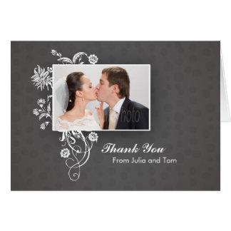Tarjeta de nota hermosa elegante del boda
