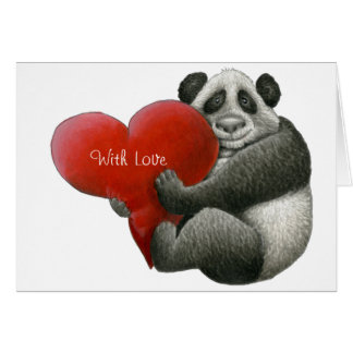 Tarjeta de nota linda de la panda