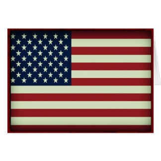 Tarjeta de nota patriótica de la bandera americana tarjeta pequeña