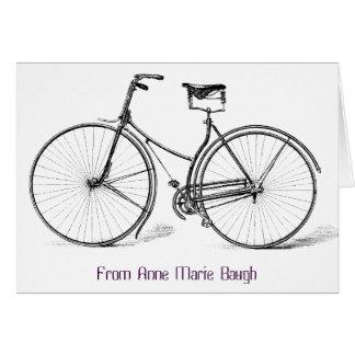 Tarjeta de nota personalizada de la bicicleta del