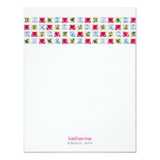 Tarjeta de nota plana del amor de la paz y de la invitación 10,8 x 13,9 cm