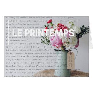 Tarjeta de nota - primavera - país francés