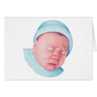 Tarjeta de nota recién nacida