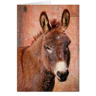 Tarjeta de nota roja del burro del Burro