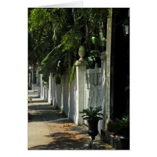 Tarjeta de nota sombría del paseo de Charleston