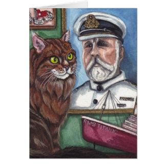 Tarjeta de nota titánica del CAT de COON de MAINE