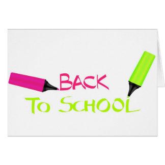Tarjeta De nuevo a escuela