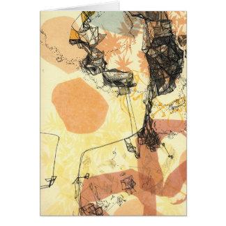 Tarjeta de observación del arte abstracto de las