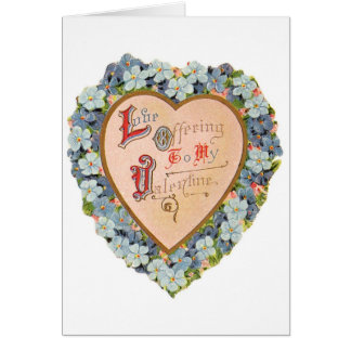 Tarjeta de ofrecimiento del el día de San Valentín