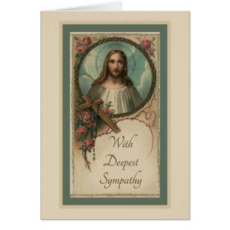 Tarjeta de ofrecimiento total católica de la