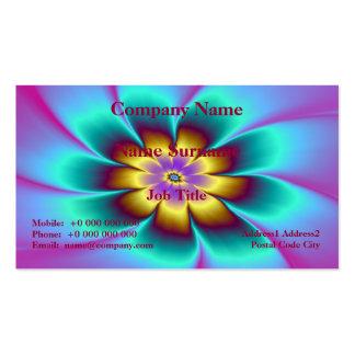 Tarjeta de oro de la margarita tarjetas de visita