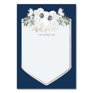 Tarjeta de oro del consejo de la novia