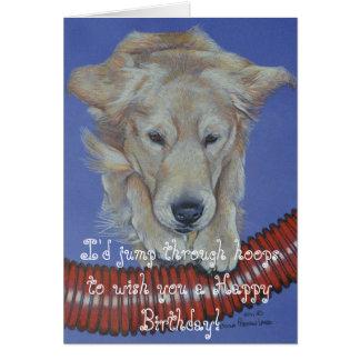 Tarjeta de oro del feliz cumpleaños de la agilidad