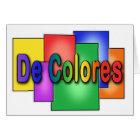 Tarjeta de Palanca del vitral de De Colores