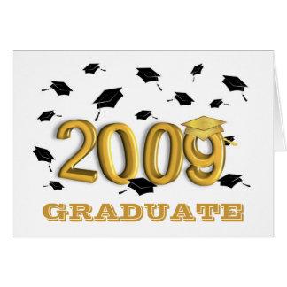 Tarjeta de papel 2009 de Announcment de la graduac