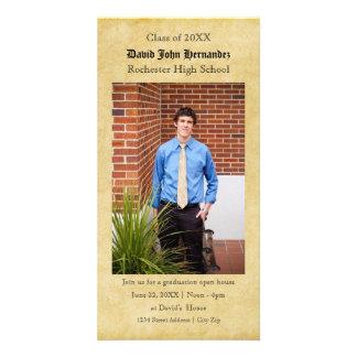 Tarjeta de papel de la foto de la graduación del tarjetas personales