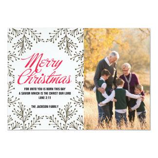 Tarjeta de papel de la foto de las Felices Navidad