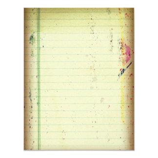 Tarjeta de papel de RSVP del cuaderno Invitación 10,8 X 13,9 Cm