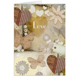 Tarjeta de papel del amor