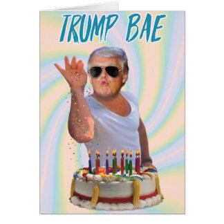 Tarjeta de papel divertida del cumpleaños de Bae