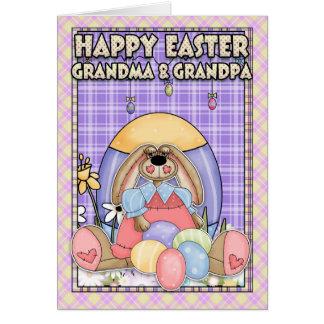 Tarjeta de pascua de la abuela y del abuelo - cone