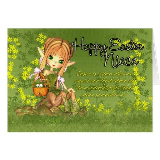 Tarjeta de pascua de la sobrina - Centaur lindo co