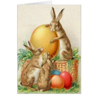 Tarjeta de pascua de los huevos de Pascua del