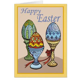 Tarjeta de pascua decorativa de los huevos