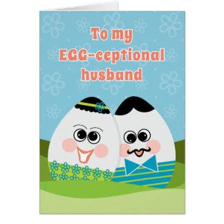 Tarjeta de pascua divertida para los huevos tontos