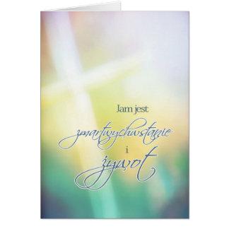 Tarjeta de pascua feliz religiosa polaca