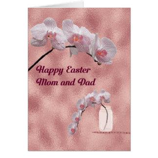 Tarjeta de pascua para el diseño de la orquídea de