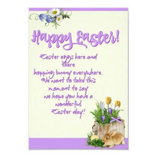 Tarjeta de pascua púrpura invitación 8,9 x 12,7 cm
