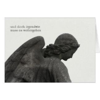 Tarjeta de pésame con ángel