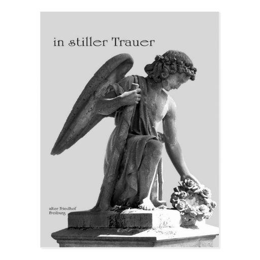 Tarjeta de pésame con ángel postales