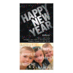 Tarjeta de plata de la foto de los Años Nuevos de  Tarjeta Personal Con Foto
