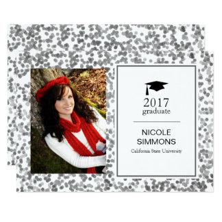 Tarjeta de plata de la foto del graduado del invitación 12,7 x 17,8 cm