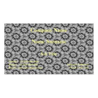 Tarjeta de plata de las margaritas tarjetas de visita