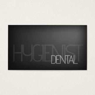 Tarjeta de plata llana simple del higienista