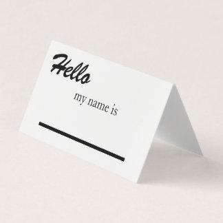 Tarjeta de presentación del espacio en blanco de