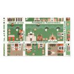tarjeta de presentación del mapa del dibujo animad tarjeta de visita