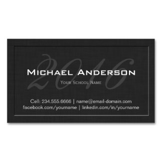 Tarjeta de presentación grabada en relieve tarjetas de visita magnéticas (paquete de 25)