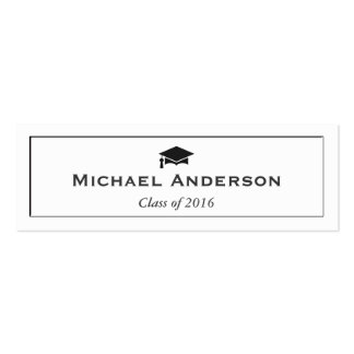 Tarjeta de presentación mayor grabada en relieve tarjetas de visita mini