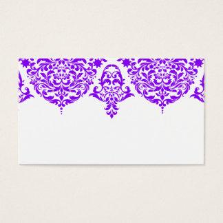 Tarjeta de presentación púrpura fabulosa del