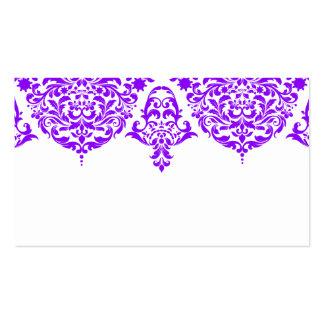 Tarjeta de presentación púrpura fabulosa del tarjetas de visita