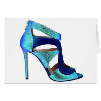 Tarjeta de princesa Cenicienta Blue Shoes Quote