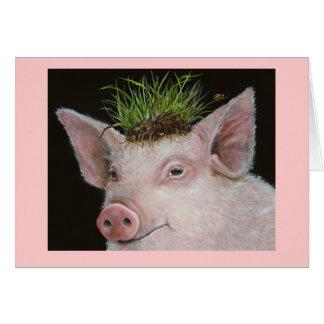 Tarjeta de princesa Pig