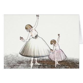 Tarjeta de profesor del ballet