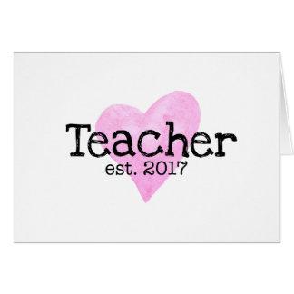 Tarjeta de profesor, nueva tarjeta de profesor