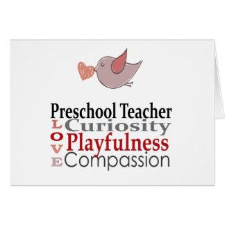 Tarjeta de profesor preescolar